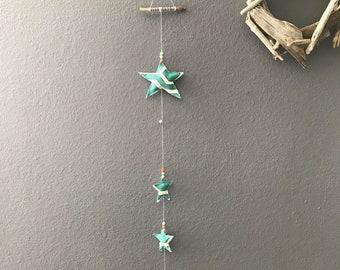 Fabric & Bead Star hanging