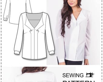 Top Patterns - Blouse Patterns - Blouse Sewing Patterns - Womens Sewing Patterns - Top Patterns - Simple Blouse Patterns - Sewing Tutorials