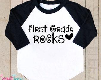 Kindergarten Rocks Shirt Boy Girl Shirt Kids Raglan Shirt
