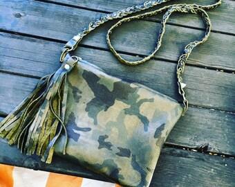 "Vegan or Leather Crossbody ""MotoGirl"" Handbag- Made in the USA"