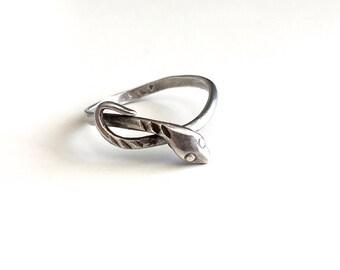 Vintage Sterling Silver Serpent Snake Ring