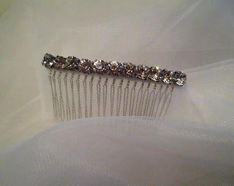 Bridal veil fingertip bridal soft veil rhinestone comb bridal veil. SWAN.