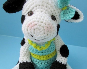 Crochet Pattern Cute Cow by Teri Crews Wool and Whims Instant Download PDF Format