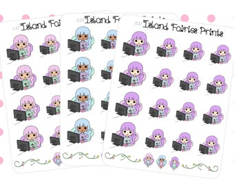 Fairies Lazy TV Binge Planner Stickers (C37 S37 L37)