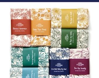 Pick 8 Hymn Tea Towels | Christian wall art teacher gift ideas mothers day gift kitchen towel botanical print art print housewarming gift