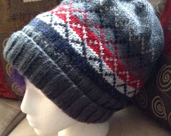 The Trevor Hat - Slouchy Knit Hat with Extra Long Ribbed Brim