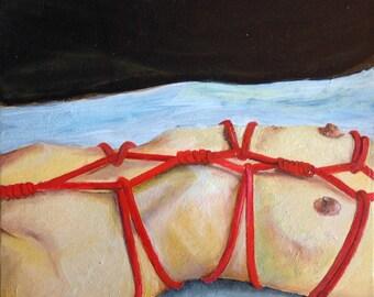 Bondage erotic picture 20 x 17 cm