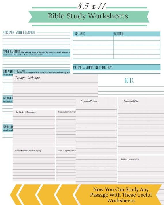 Free Printable Bible Study Planner - SOAP Method Bible Study ...