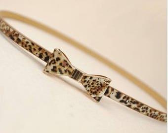 belt loop bow leopard