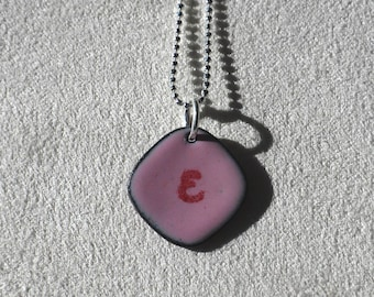 Initial Pendant Pink and Red