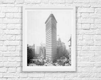 New York City Flat Iron Building - Circa 1903 - New York City Photograph - Vintage New York - Steampunk Photograph - NYC - Flat Iron -