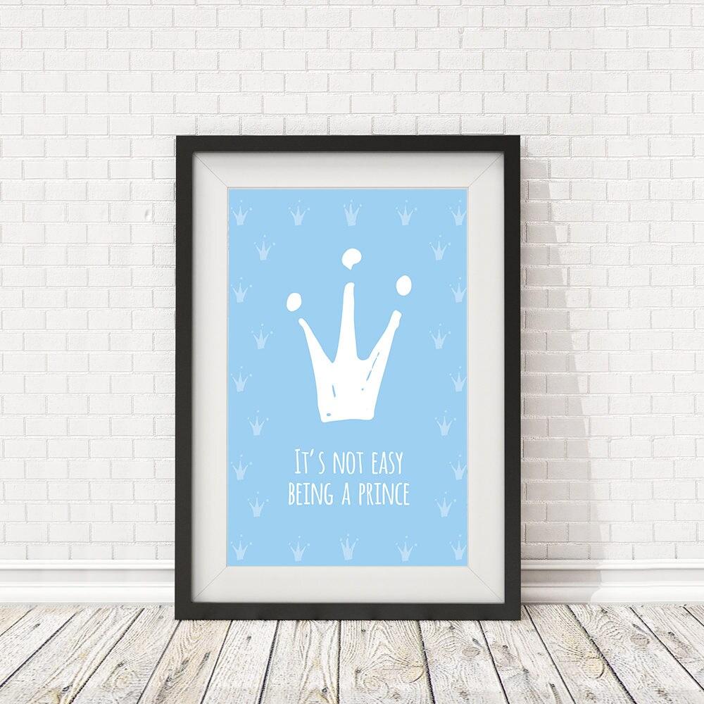 Prinz Plakat Baby-Dekor-Kunst blaue Krone Poster Krone