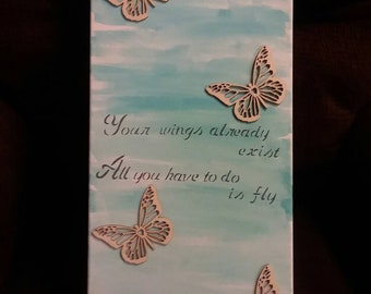 Inspirational butterfly painting