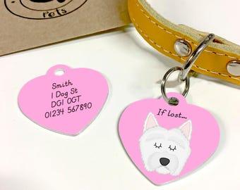 West Highland Terrier Dog Tag - HEART