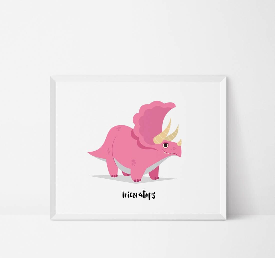 Triceratops Dinosaur Wall art Dinosaur Nursery dinosaur art
