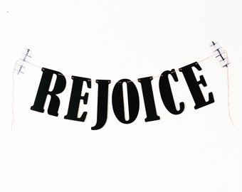 Rejoice Easter Banner