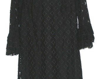 Beautiful Vintage Black Lace Dress
