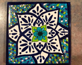 Mexican inspired decorative tiles
