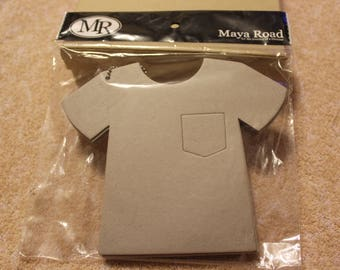 "Free Shipping!  Maya Road T-Shirt Chipboard Coaster Book - 8 pages on chain - C1192 - 7"" x 6"" - Unique Scrapbook Album - S3"