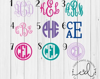 "99 CENT 2 INCH Monogram Car Decal - Monogram Decal - Sale Decals - Monogram Decals - Bow Decal - Flash Sale - 2"" Car Decals - 2"" Monograms"