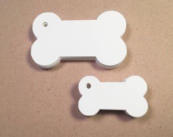Die Cut, Hang Tags, Dog Bone, Gift Tag, Pet Shop Tag, Retail Tag, 110 lb Card Stock #CP-1210