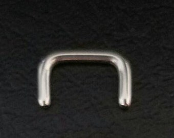 20g .925 silver or .999 fine silver Septum Retainer Hide Your Piercing!