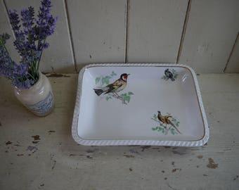 French Vintage Pie Dish - Bird Detail - Vintage pie dish - Vintage dish - Baking Dish - pie dish - Vintage Baking Dish - French Vintage