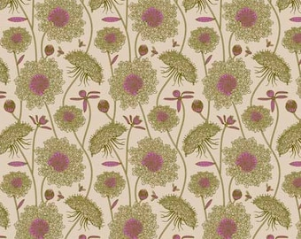 Sweet Dreams by Anna Maria Horner for Free Spirit - Lacey - Moss - 1/2 yard Cotton Quilt Fabric