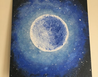 Acrylic Moon Painting