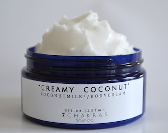 Coconut Milk Body Cream, Body Butter, Milk Body Lotion, Choose Scents