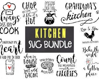 Kitchen SVG Design Bundle - August 2017 Release -  Silhouette Cameo - Vinyl - Cricut