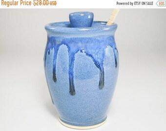 ON SALE Jar for Honey - Honey Dispenser - Ceramic Honey Jar - Pottery Honey Jar - Honey Container - Honey Pot - Honeypot - Pot for Honey - I