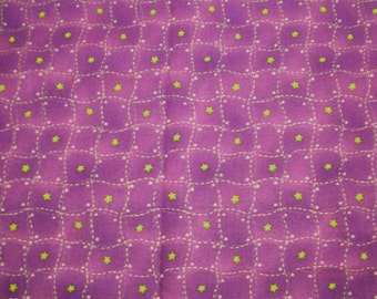 Twinkle Little Star fabric Red Rooster 17023 eggplant - 1/2 yard