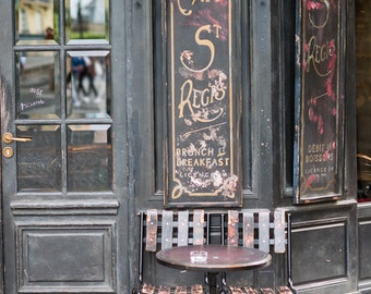 Paris Cafe Fine Art Photograph, Cafe St. Regis, Large Wall Art, French Kitchen Decor, Travel Photograph