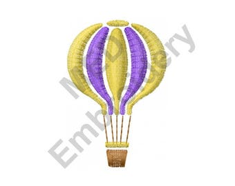 Hot Air Balloon - Machine Embroidery Design