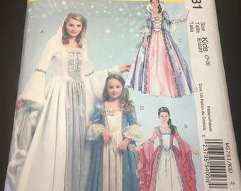 UNCUT McCall's Sewing Pattern M5731-CHILDREN'S Princess Dress Sizes 3-8