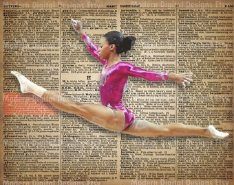 Gabby Douglas Printable Typography Text Art Word Art Motivational Poster, USA Gymnast  INSTANT DOWNLOAD