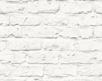 Contemporary Faux Brick Industrial Chic Brick Wall Wallpaper R3704