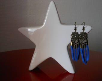 earring pendant with Blue Suede