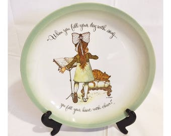 1970s Holly Hobbie Collectible Decorative Plate