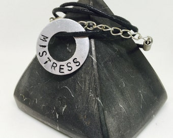 Fetish, Mistress, Mistress necklace, BDSM pendant, BDSM necklace, Personalised necklace, gift ideas, gift for her, gifts for him, adult