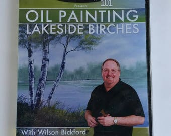 Oil painting lakeside brushes with Wilson Bickford dvd art education