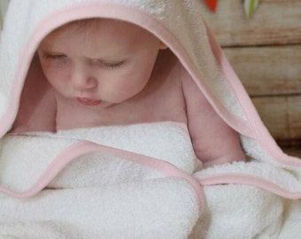 Girls personalised towel, baby hooded towel, personalized bath towel, new baby gift, embroidered gift