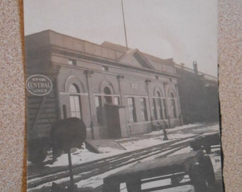 Vintage Original Photo Snapshot Train Station New York Central