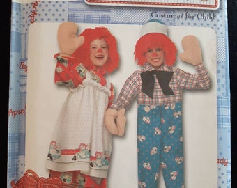 Simplicity 9375, Children's Raggedy Ann and Andy Halloween Costumes