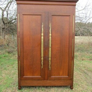 19th Century Oak Louis XV Provincial Armoire, Wardrobe, Hall Cupboard