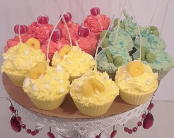 Soy Wax Cupcakes- various 'flavors'
