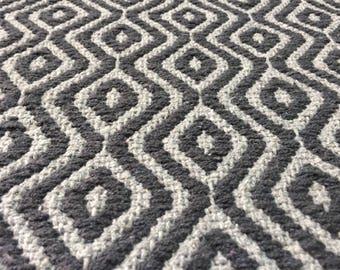 81x48 Cm / 2.7x1.6 feet Black grey rug,outdoor mat,rug,kilim rug,bath mat,cotton rug,kitchen design,entrance rug,entry rug,FREE Shipping!!