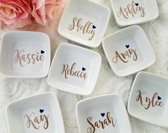 Personalized Ring Dish, Jewelry Dish,  Wedding Gift,  Bridal Party,  Engagement Gift, Bridesmaids Gift, Wedding Gift, Jewelry Holder