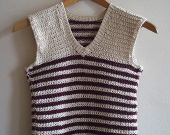 Woven blouse with stripes and V-neck